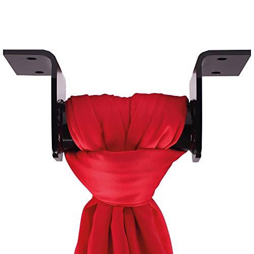 Vertikaltuchdeckenhalterung + Aufkleber zur Befestigung von Vertikaltuch oder Yogatuch direkt an der Decke l Vertikaltuch-Aufhängung für Vertikaltücher mit Halterung für Decken l schwarz
