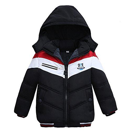 Pas Cher Vêtements enfants Été, 3-4 Ans Mode enfants manteau garçons filles manteau épais rembourré veste d'hiver vêtements Chic Cadeau Saint-Patrick