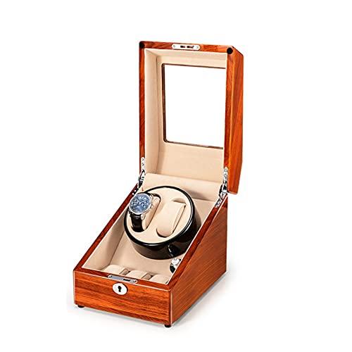 zyy Caja de Relojes Automaticos Estuche para 2+3 Relojes 5 Velocidades Silenciosa Caja de Almacenamiento Automaticos Caja de Relojes Mecánicos Caja Bobinadora
