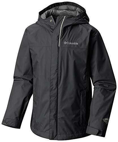 Columbia Watertight Jacket Chaqueta Impermeable, Aislamiento térmico sintético Hi-Loft, Niño, Negro (Black), M