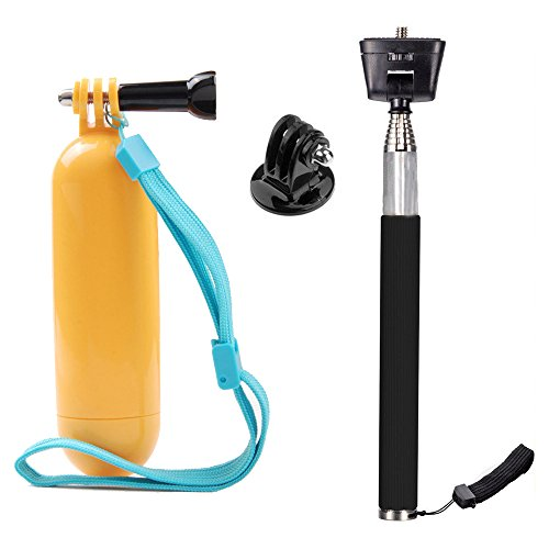 TEKCAM Action Camera Selfie Stick Floating Handle Grip Compatible with Gopro Hero 8 7 6 AKASO EK7000 Brave 4 APEMAN Campark Victure Waterproof Cameras