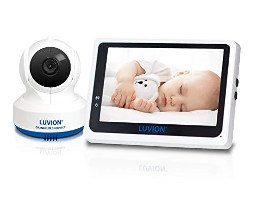 LUVION GRAND ELITE 3 CONNECT - Babyphone mit Kamera und WIFI Verbindung - 4,3-Zoll-Bildschirm - Weiß