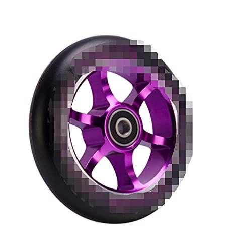 CML 2pcs 110mm Truco Scooter Ruedas de aleación Ruedas (Color : Purple)