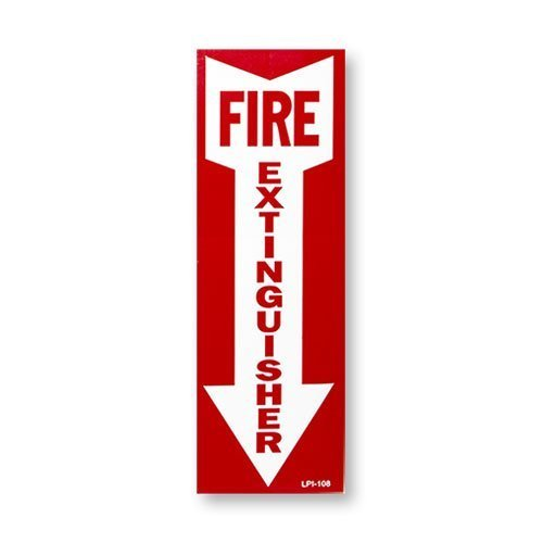 2.5 Gallon Water Pressure Fire Extinguisher, Strike First with Wall Bracket and Inspection Tag and Sign