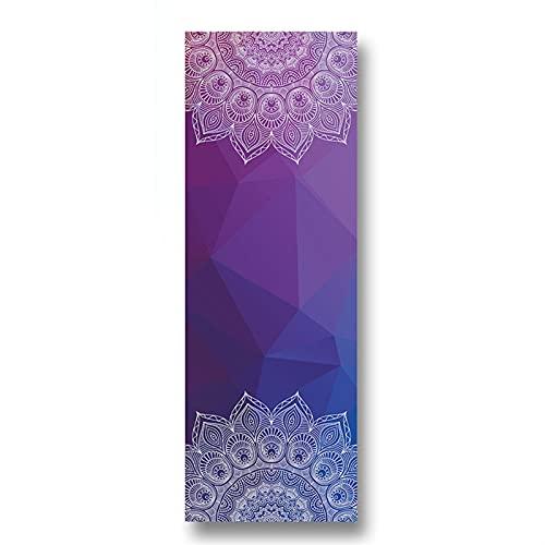 Línea de impresión de Toallas de Yoga Línea de Ejercicio Antideslizante Estera de Equilibrio de Fibra superfina Tablero de Ejercicios de Entrenamiento de Fitness Toalla con Alfombrillas de Yoga