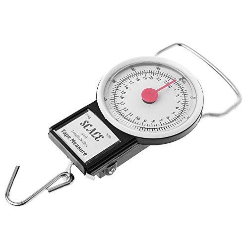 22kg / 50lb draagbare hangende weegschaal balans vishaak weegschaal keuken met meetlint visweegschaal