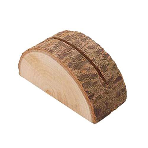 Clispeed Soporte de madera para tarjetas de mesa rústico soporte para mesa tarjetas de mesa de madera ideal para bodas, color como en la imagen Größe 1