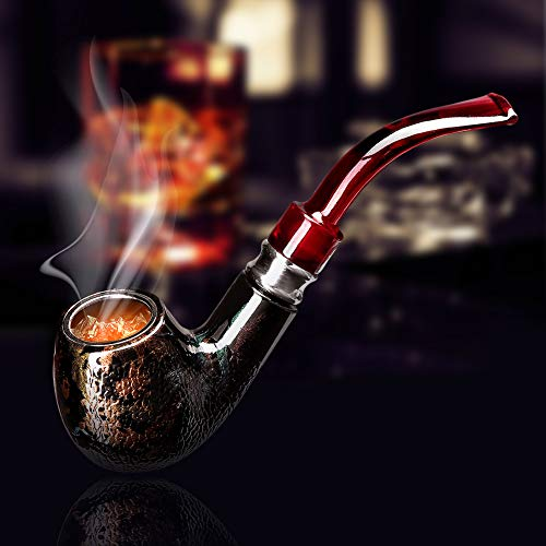 Tobacco Pipe,Wooden Pipes for Smoking,Perfect Beginner Smoking Accessories,Easy to Carry and Clean,Creative and Fashionable Special Gifts for Men,Father,Husband,Grandpa