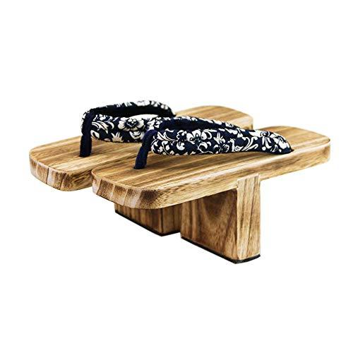 Cosplay Holz Hausschuhe im japanischen Stil Ninja Flip Flop Geta Sandal Clogs, A