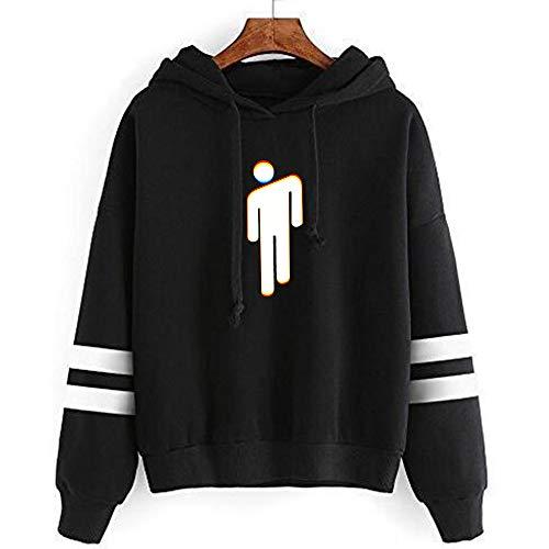 YUEKUN Billie Eilish Hoodie Merch Sweatshirt Graphic Hoodies Pullover Lässige Mode Lustige Kapuzenpullover Tops Kleidung