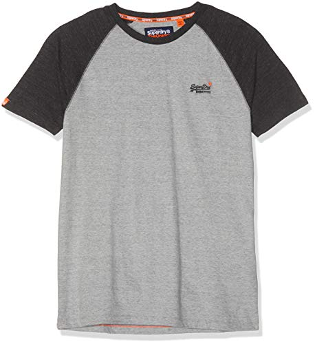 Superdry Herren ORANGE Label Baseball S/S Tee T-Shirt, Beige (Pumice Stone SXT), Small