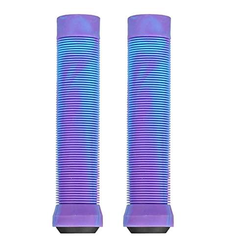 YYOMXXOM Grips de Scooter agarres de Bicicletas 145 mm Barras de longneck sin flangeles Suaves Ajuste para PROCIT SCUNT SCUNTER Anterior Y BMX Bikes BARRES Blancos Y Blancos (Color : Purple)