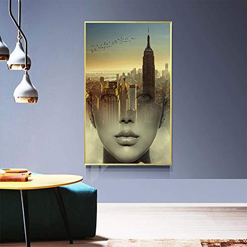 SADHAF HD afdrukken Scandinavische fotografie kunst mooie architectuur landschap canvas poster afdrukken kamer decoratie muurschildering 50x70cm (no frame) A3