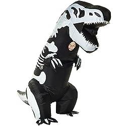 4. Morph Morphsuits Giant Skeleton Inflatable Kids Dinosaur Costume