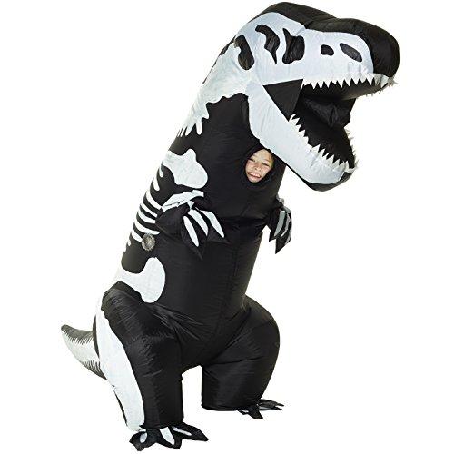 Morph Costume da Dinosauro Gonfiabile T-Rex Scheletro Bambini - Taglia unica