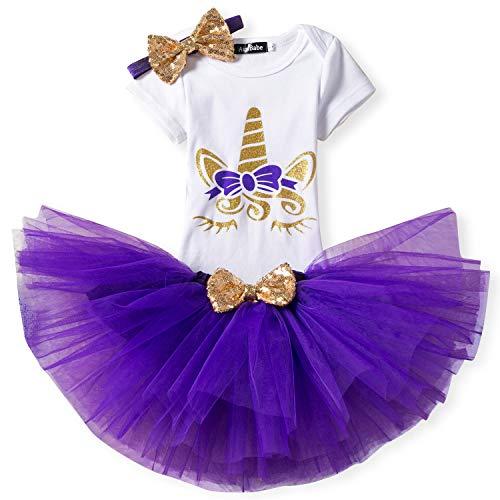 NNJXD - Vestido - para bebé niña A-Purple 11-18 Meses