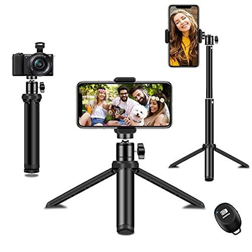 Phone Tripod, SYOSIN Extendable and Flexible Selfie Stick & Tripod...