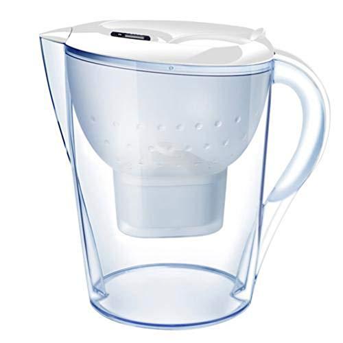 Lcme Edelstahl Filter Variable, 3.5L Aktivkohlefilter Kessel Für Home Office Porable Water Purifier Direkt Trinken (Weiß)