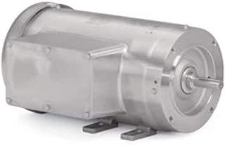 Baldor Electric Company CFSWDL3507 - Foot Mounted AC Washdown Motor-Food Safe - General Purpose Motor - (Stainless Steel), 1 ph, 3/4 hp, 1800 rpm, 115/230 V, 56C Frame, TEFC Enclosure