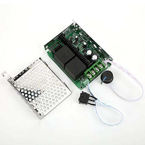 Speed 10V-50V 40A DC Motor Speed Controller, PWM Controller Interruptor de dirección inversa Módulo de accionamiento Potenciómetro Accesorio Reemplazo