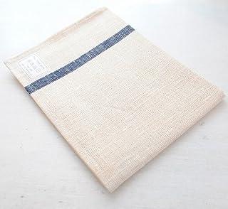 fog linen work (フォグリネンワーク) リネンライン入りキッチンクロス ホワイト×ネイビー【WNA】