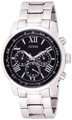 Guess Herren Chronograph Quarz Uhr mit Edelstahl Armband W0379G1