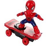 Enfants Électrique Cascade Jouet Automatique Spider Man Culbute Cascade Jouet Voiture - Rouge
