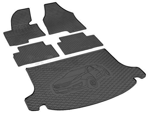 Passende Gummimatten und Kofferraumwanne Set geeignet für KIA Sportage ab 2010ein Satz + Gurtschoner