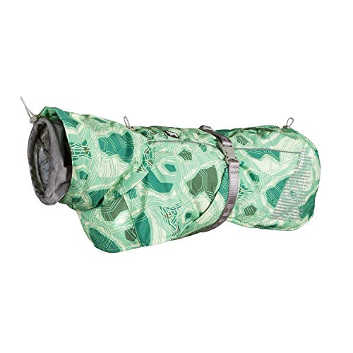 Hurtta Extreme Warmer Wintermantel für Hunde, Grün Camouflage, Größe 1 für Hunde, Grün Camouflage, Größe XS