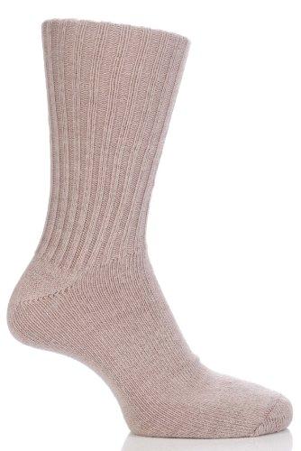Herren und Damen 1 Paar SockShop von London Mohair Gerippte Socken mit Dämpfung - Toffee 4-7