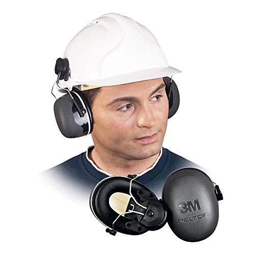 3M Peltor X5 Kapselgehörschutz X5P3E, Helmbefestigung - SNR 36 dB, schwarz