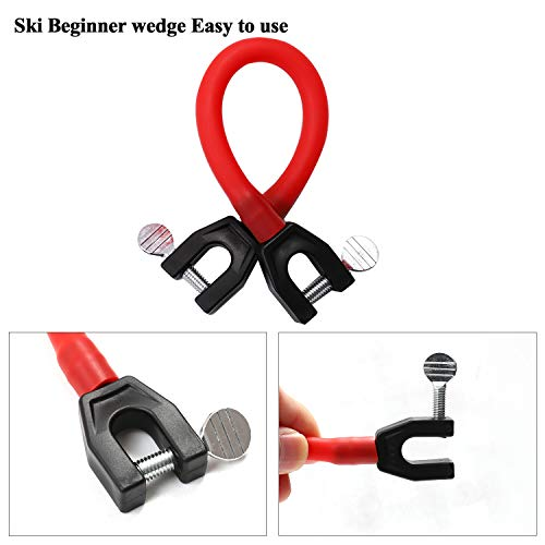 URATOT 4 Pieces Ski Tip Connector Learn to Ski Ski Training Aid Easy Wedge Ideal for Beginners, 2 Colors