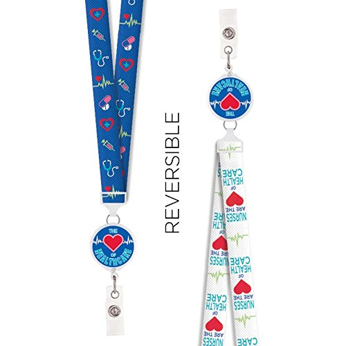 Reversible Badge Reel Lanyard (Nurses Heart of Healthcare)