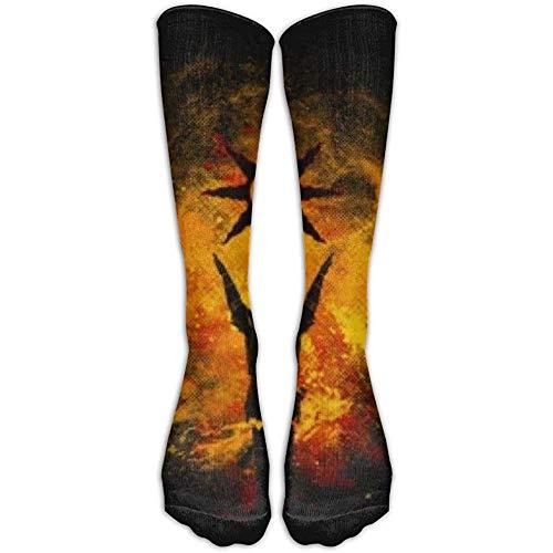 NA Pojuu Praise The Sun Art sportieve sokken kniekousen voor mannen en vrouwen sport lange sokken buis lange kousen één maat