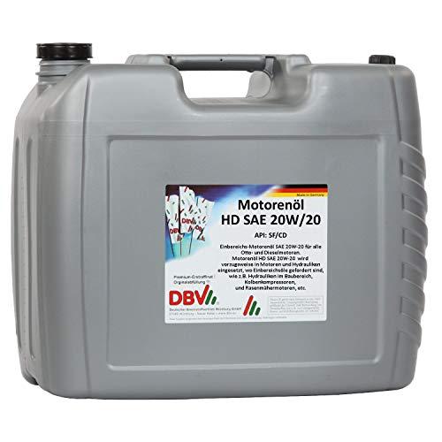 Motorenöl HD SAE 20W/20 20-Liter-Kanister