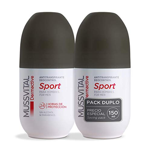 Desodorante Mussvital Dermactive Sport Pack 2 Uds x 75ml. Roll-on
