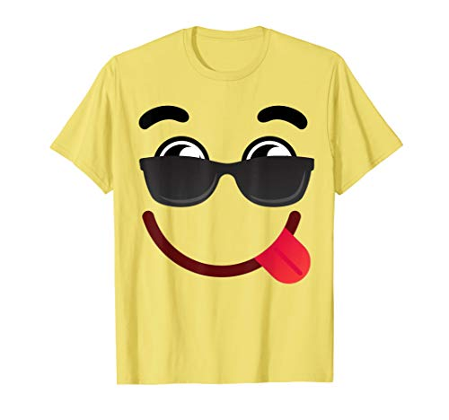 Halloween Emojis Kostüm Smiley mit Sonnenbrille T-Shirt