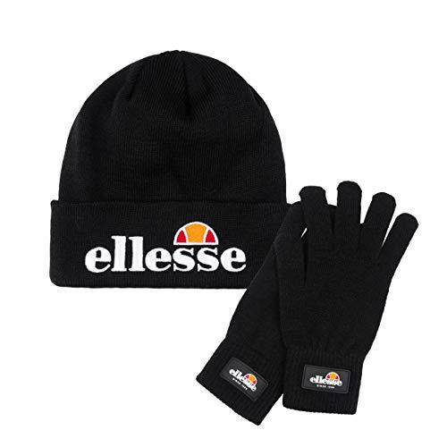 Ellesse Velly & BUBB Beanie & Gloves Guantes y Gorro, Unisex Adulto, Negro, Talla única