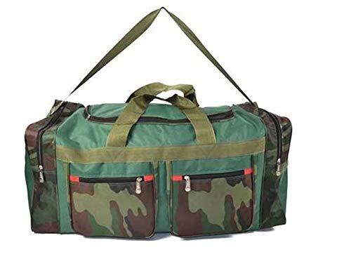 EVERTOP Borsone Sportivo Camouflage per Palestra Sport con Tracolla Borsa Mimetica Unisex con 5 Ampie Tasche E25