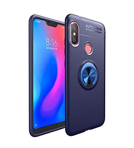Funda Xiaomi Mi A2 Lite Teléfono Móvil Silicona Bumper Case Funda con Anillo Giratorio de 360 Grados Rotaria Ring Holder Protectora Caso (2, Xiaomi Mi A2 Lite)