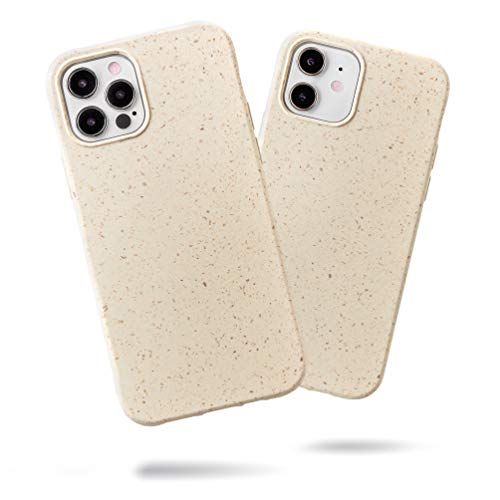 """SteepLab Eco Warrior Case for iPhone 12 & iPhone 12 Pro (2020, 6.1"""" Screen) - The Thin & Slim Biodegradable case, Protects Your Phone and The Earth (Cream of The Crop)"""
