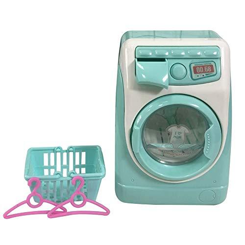 Balai La lavatrice finge i giocattoli, Mini simulazione casa delle bambole Mobili da cucina Giocattoli, Giochi per bambini Giochi Casa Lavatrice