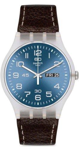 Swatch Classic - Reloj de Cuarzo, Correa de Cuero
