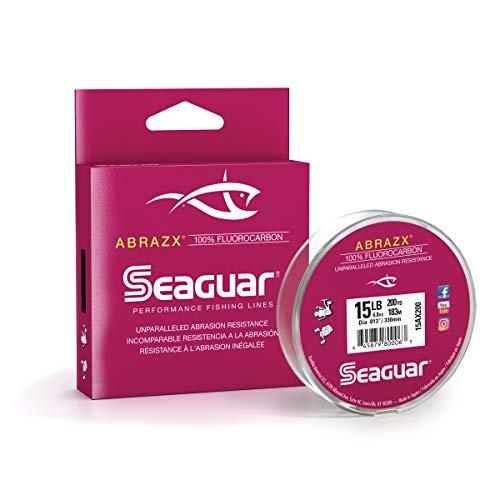 Seaguar Abrazx 100% Fluorocarbon 200 Yard Fishing Line (15-Pound)
