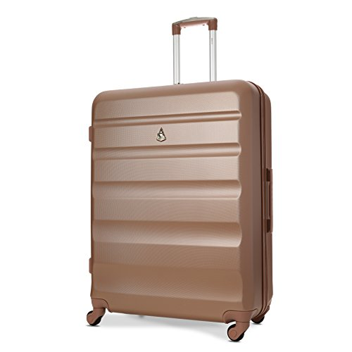 Aerolite Large 29' Super Lightweight ABS Hard Shell Travel Hold Check in Luggage Suitcase with 4 Wheels (Large, Rose Gold)