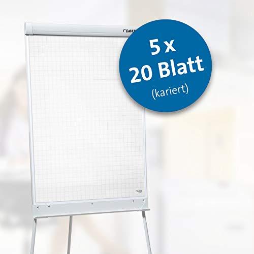 Dahle Flip-Chart-Block 95037 (68 x 99 cm, kariert, 80 g/m2 Papier) 5er Packung