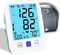 Blood Pressure Monitor Upper Arm Automatic Blood Pressure Machine Digital Large Cuff 4 Batteries Included LCD Backlight Screen