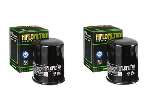 Hiflo Filtro HF196 Premium Filtro de aceite para Polaris (600 Sportsman 03), (700 Sportsman Twin 02-04), (600 Sportsman Twin (construido antes de 10/2/03) 04))