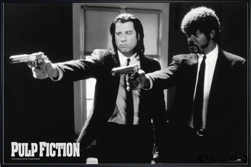 Close Up Pulp Fiction Poster (62x93 cm) gerahmt in: Rahmen schwarz