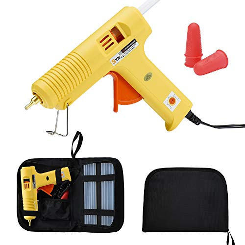 DIY Hot Melt Glue Gun Kit 100 Watt with Carry Bag 3PCS Finger Caps and 12 PCS Glue Sticks for DIY Arts & Crafts Projects, Sealing and Quick Repairs, Light and Heavy Duty in Home and Office
